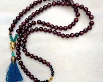 Mala 108 in Garnet price special mother's day