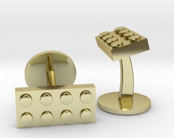 Lego Brick Cufflinks   Lego Block Cuff Links   Geek Wedding Cufflinks   Gold   Rose Gold   Silver   Bronze