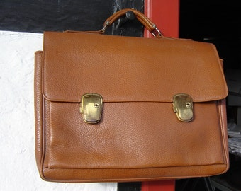 Large Briefcase - thick leather - 70 top - satchel - Collegtasche-