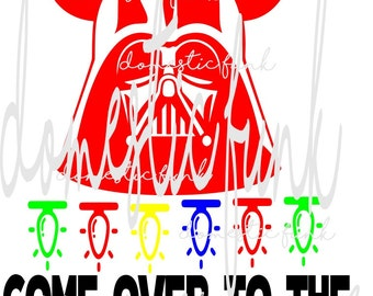 Come Over to the Merry Side Disney Darth Vader SVG