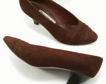 Brown pump heel Vintage 80s