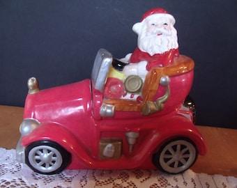 Vintage Ceramic Santa Claus Cookie Jar, (# 975/61)