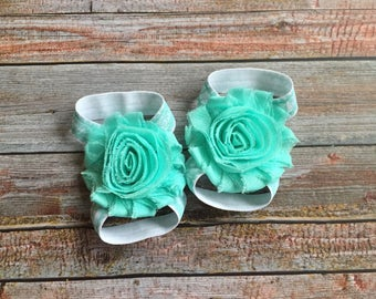 Aqua Barefoot Sandals/Baby Barefoot Sandals/Baby Sandals/Newborn Shoe/Baby Sandels/Sandals for Baby/Summer Shoes Baby/Aqua/Baby Shoes