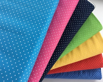 Bundle of Windham Basic Brights Small Dot Fabrics, 7 fabrics