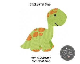 Embroidery design embroidery file Dino dinosaur Brontosaurus