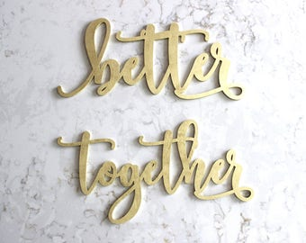 better together chair Signs // Chair Signs // Wedding Decor // Wedding Chair Signs//Elegant Wedding Decor//Wedding Signage //better together