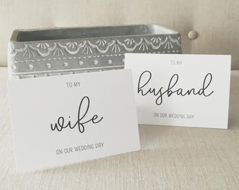To My Husband/Wife On Our Wedding Day - Husband Wedding Card - Wife Wedding Card - Wedding Day Cards - Wedding Vow Cards