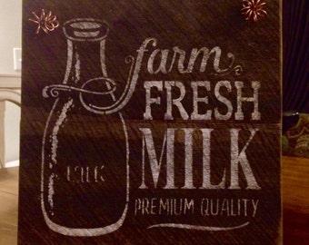 Rustic Barnwood, Farmhouse, Milk Sign