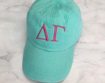 Delta Gamma Hat, Sorority Hat, Delta Gamma, Sorority Clothing, Sorority Gift, Chi Omega Gift, Tri Delta hat, ADPi gift, Gamma Phi Beta Hat