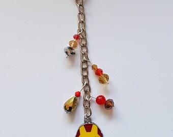 Iron Man key chain or bag charm.