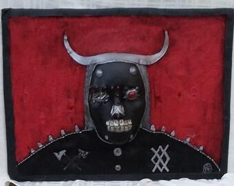 Original artwork, Viking mask, Fantasy artwork, Wall art mask, Decorative mask, 3D wall art, Art for him, Apartment wall art, Masks, Warrior