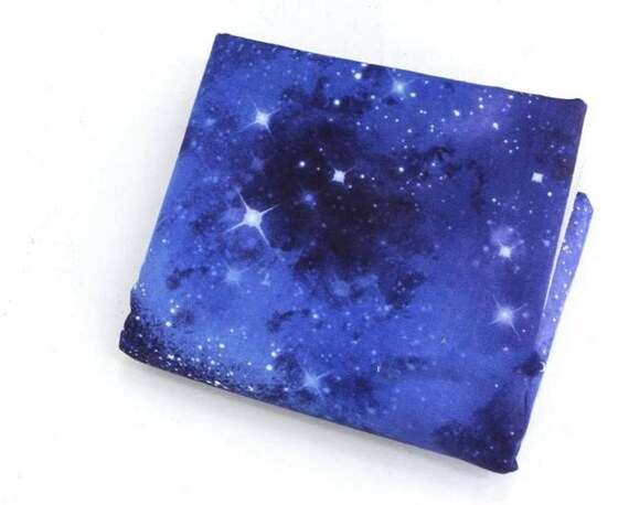 Star cluster nebula space universe cosmos printed fabric for Nebula fabric by the yard