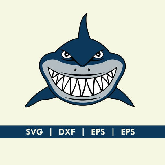 Shark Face Smile Finding Nemo Bruce Svg Dxf Silhouette