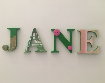 Wooden Letter Names - Lime Green