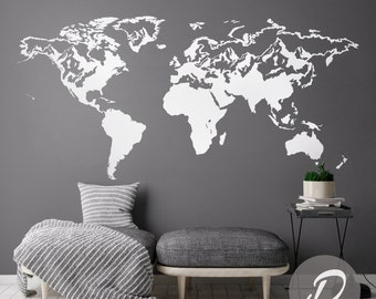 World map decal temporary wall decor office wall decal world map of the world decal wall map decal world map sticker world map wall decal vinyl gumiabroncs Image collections