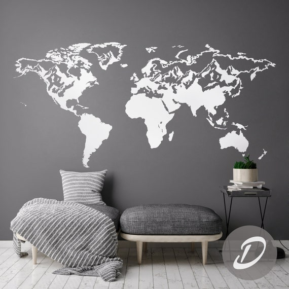 carte du monde sticker mural carte sticker monde carte monde. Black Bedroom Furniture Sets. Home Design Ideas
