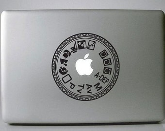 Camera Button Vinyl Decal Sticker for Apple Macbook Pro / Air 11 13 15 inch