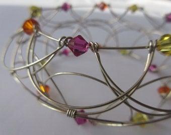 MANDALA BRACELET 3-D_Collection FLORAL_bijoux & accessory of meditation, yoga, chakra, crystal Swarovski
