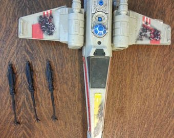 "Vintage Star Wars ""Battle Damaged"" X-Wing Fighter"