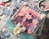 iPhone 7/6/6s Yuri on Ice Decoden Bling Phone Case - Kawaii Yuri Ice Skating Anime Image Rhinestone Border Case - Ready to Ship