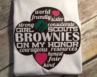 Brownie Shirt | Girl Scout | Girl Scout Law | Girl's shirt