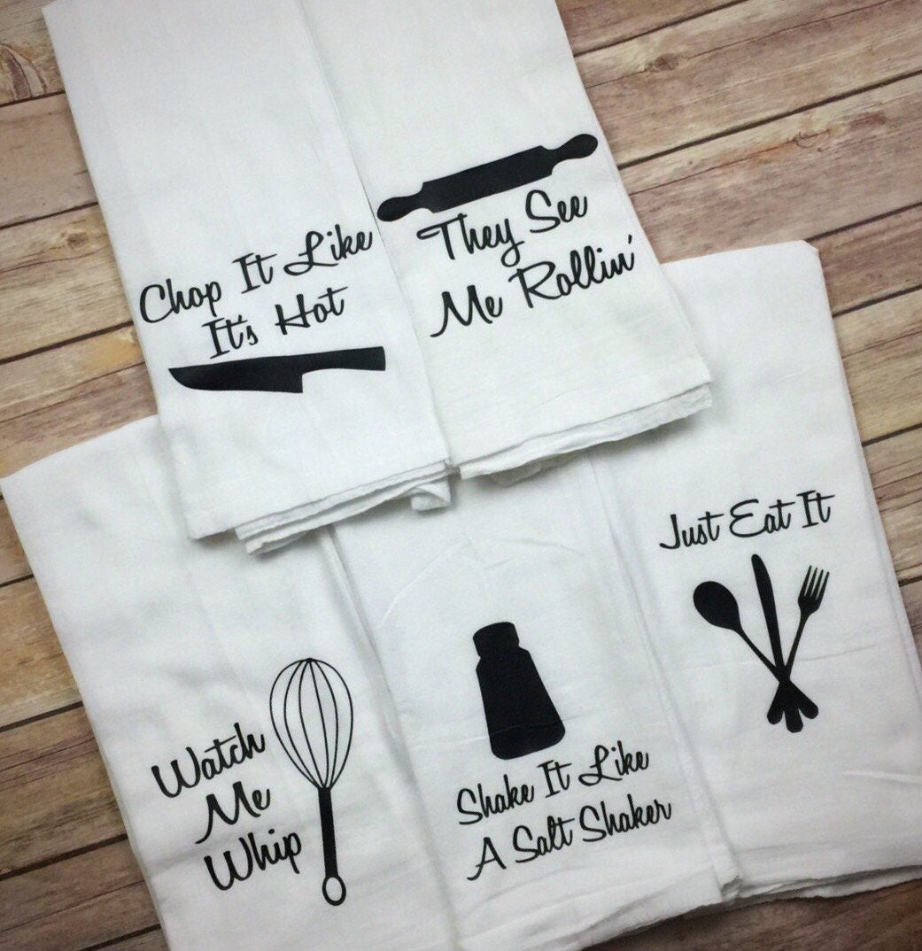 Flour Sack Towel Funny Kitchen Towels Fathers Day Gift