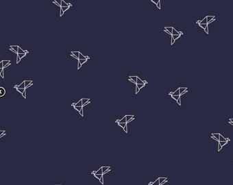 Bye Bye Birdie in Navy- Batiste- Atelier Brunette