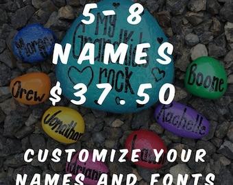 My Grandkids Rock - customizable decorative rocks 5-8 names