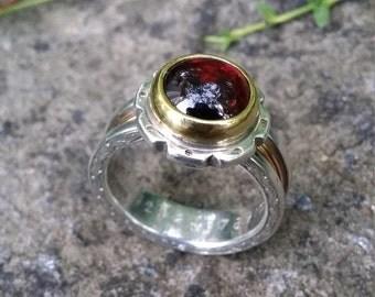OOAK Men's Garnet Ring
