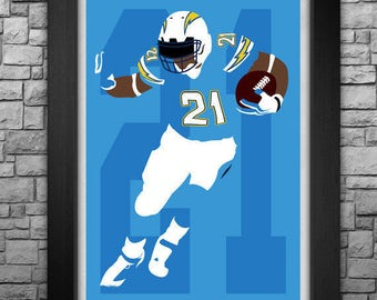 LaDAINIAN TOMLINSON minimalism style limited edition art print. Choose from 3 sizes!