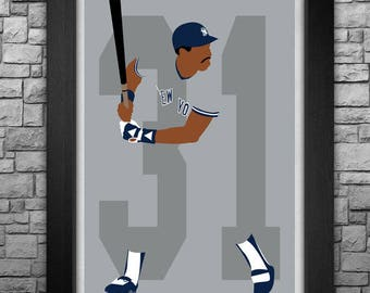 DAVE WINFIELD minimalism style limited edition art print. Choose from 3 sizes!