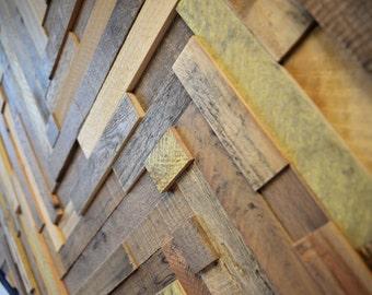Reclaimed Wood Wall Art (Herringbone Slats) FREE SHIPPING!