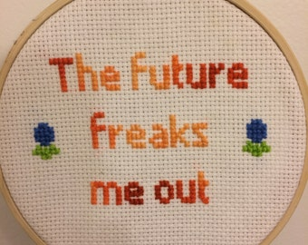 The Future Freaks Me Out by Motion City Soundtrack Cross Stitch