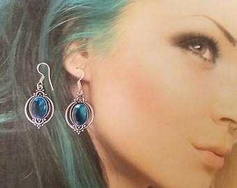 gemstone earrings Cat Eyes