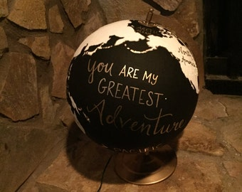 Hand Painted Night Light Globe.