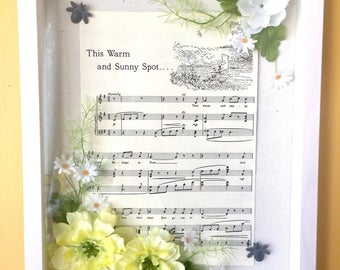 Vintage Sheet Music Art with Winnie the Pooh
