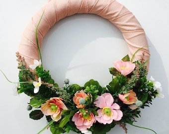 April Showers Bring May Flowers Wreath