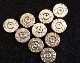 Lot of 10- 40 S&W Nickel Plated Head - Thin Cut