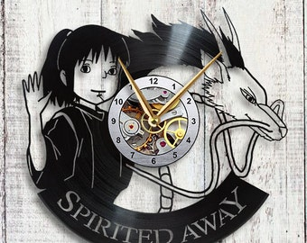 Spirited Away Haku Vinyl LP Record Wall Clock