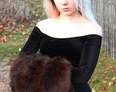 Real Vintage Sable Fur Muff