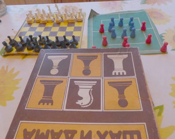 vintage Chess and checkers 1980