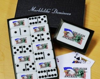 God Bless Dominoes & Playing Card Gift Set