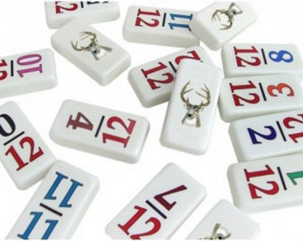 Customizable Professional Size Numeral 12 Dominoes