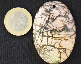 Natural, unique Argentina Rhodochrosite pendant (E40)