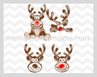 Christmas Bundle Reindeer SVG, DXF, PNG Files for Cricut and Silhouette cutting machines Christmas svg bundle, Reindeer svg file, svg files