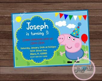 George Pig Birthday Crown George Pig Party Hats Peppa Pig