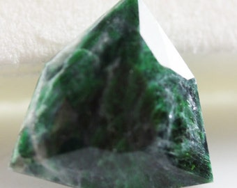Maw Sit Sit 3.70cts Trillion Cut 11.80 x 11.60mm T1730 Green Loose Gem Faceted Gemstone Jewelry Making Rare Gemstone