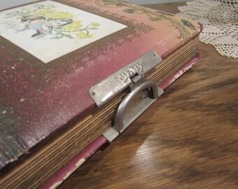 antique photo album, photo booth, photo album with clasp, victorian photo album,