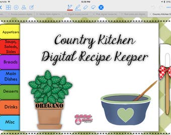 Country Kitchen Digital Recipe Keeper