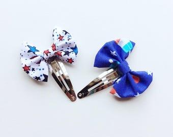 40% off !!Hair bow ,Hair clip , hair pin , Barrette , star or Popsicle ,snap clip